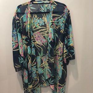 Other - Swim coverup, sheer navy kimono, so versatile!!